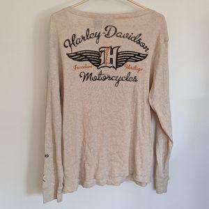 Harley Davidson Graphic Cotton Long Sleeve Tee